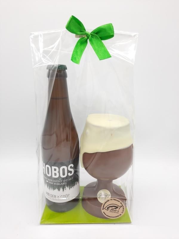 Hobos met chocolade glas